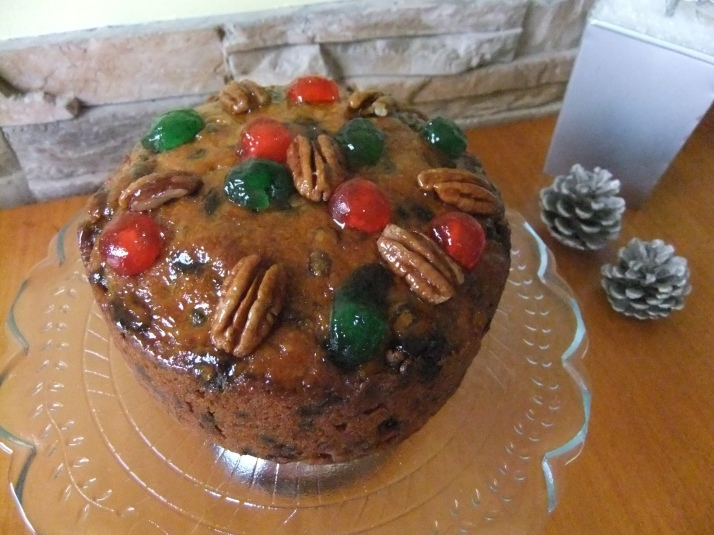 Beautiful Decadent Rum Fruitcake
