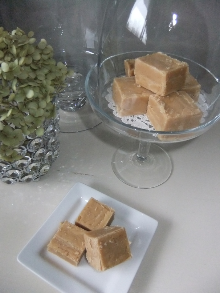 Decadent White Fudge with                a hint of Bailey's Irish Cream Yummers!