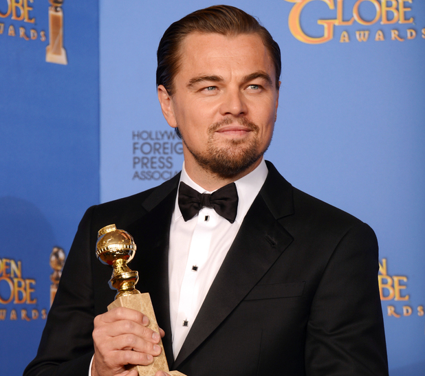 "Leonardo DiCaprio Golden Globe win 2014 ""The Wolf of Wallstreet"""