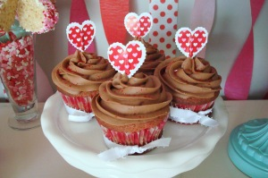Red Velvet Cupcakes with Chocolate Buttercream Frosting
