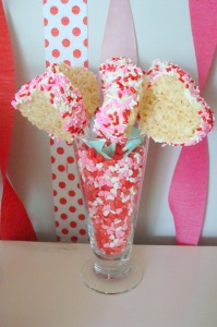Rice Krispies Heart Shaped Lollipops