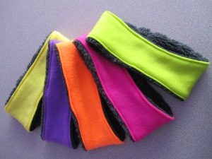 Cool Ultra Warm NEON Winter Headbands. Reversible too!