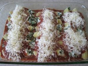 Easy Spinach Stuffed Manicotti.